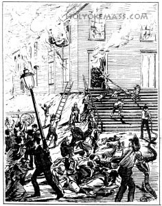 Scene In Front of the Church During the Fire