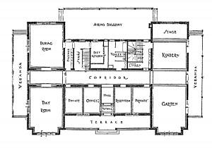 Floorplan of Proposed Infants' Asylum at Brightside