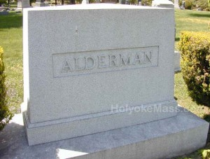 Alderman Tombstone, Forestdale Cemetery