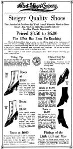 Steiger's Ad, 1913
