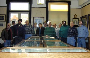 Mt. Tom Lodge volunteers: Moved empty cases donated to the museum effort.  Job well done.