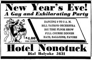 Hotel Nonotuck, 1935