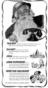 New England Telephone Ad, WWII Era
