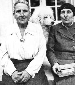 Gertrude Stein, Alice B Tolkas and her dog Basket