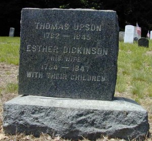 Thomas Upson - Esther Dickinson