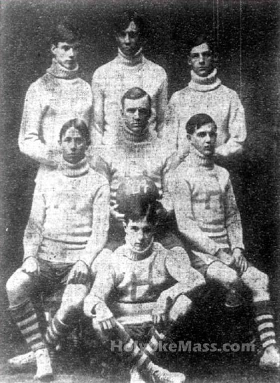 1904  Holyoke High Crack Basketball Team