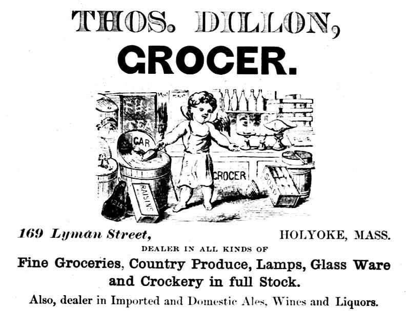 1882 Ad, Thomas Dillon, Grocer