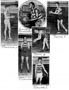 Leading Candidates For Holyoke High Quintet1929-1930 season