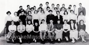 Dramatic Club, Holyoke High School, 1953-1954