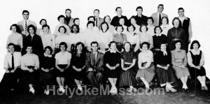 Herald Staff — Holyoke High School, 1953-1954