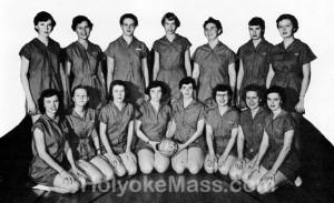 Girls' Volleyball — Holyoke High School, 1953-1954
