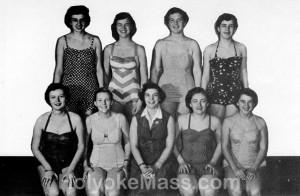 Girls' Advanced Swimming — Holyoke High School, 1953-1954