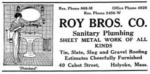 Roy Bros. Sanitary Plumbing, 1927