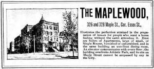 The Maplewood, 1896