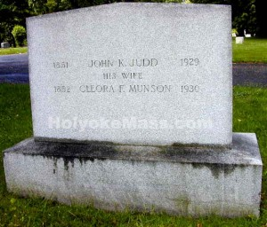 John K. Judd, 1851-1929 His Wife Cleora F. Munson, 1852-1930