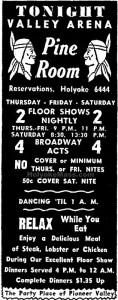 04 Oct 1951 Valley Arena Pine Room