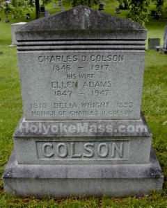 Charles D. Colson1846 - 1917His WifeEllen Adams1847 - 1947Delia Wright1810 - 1893Mother of Charles D. Colson